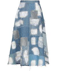 Junya Watanabe Denim Skirt - Blue