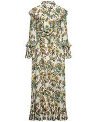 La DoubleJ 3/4 Length Dress - White