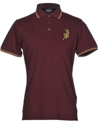 Just Cavalli Polo With Embroidery - Purple