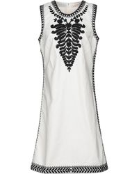 Tory Burch Camille Canvas Dress - White
