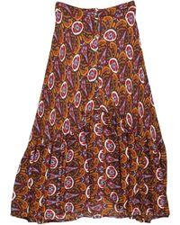 Leon & Harper Midi Skirt - Multicolour