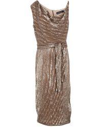 Lavish Alice Knee-length Dress - Natural