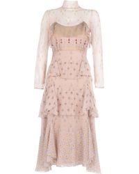 Valentino 3/4 Length Dress - Pink