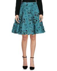 Marta Martino Knee Length Skirt - Blue