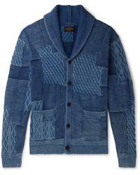 Beams Plus Cardigan - Bleu