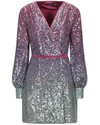 ACTUALEE Short Dress - Purple