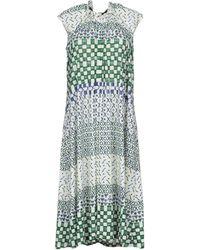 Jil Sander Navy Knee-length Dress - Green