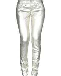 Dondup Casual Trousers - Metallic
