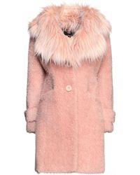 Elisabetta Franchi Teddy Coat - Pink