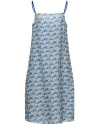 Massimo Alba Midi Dress - Blue
