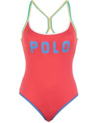 Polo Ralph Lauren One-piece Swimsuit - Red