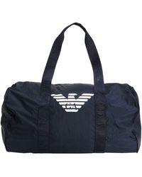 Emporio Armani Travel Duffel Bags - Blue
