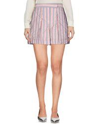 Jil Sander Navy Mini Skirt - Pink