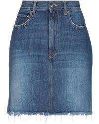 People Denim Skirt - Blue