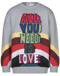 Stella McCartney - All You Need Is Love-intarsia Sweater - Lyst