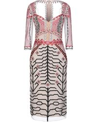 Temperley London Knee-length Dress - Multicolour