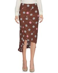Marni 3/4 Length Skirt - Brown