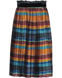 Souvenir Clubbing Knee Length Skirt - Blue