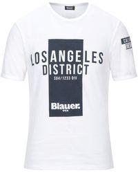 Blauer T-shirt - White
