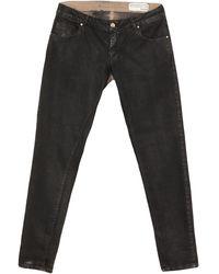 Jeanseng Pantalones - Negro