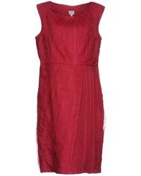 Armani Vestito al ginocchio - Rosso