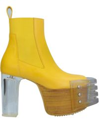 Rick Owens Ankle Boots - Yellow