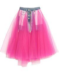 Unravel Project Denim Skirt - Blue
