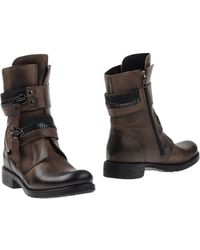 Manila Grace Ankle Boots - Brown