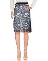 Paco Rabanne Knee Length Skirt - Black