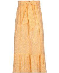 Lisa Marie Fernandez Long Skirt - Orange