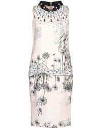 Class Roberto Cavalli Knielanges Kleid - Pink