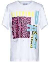 Amen Colour-block T-shirt - White