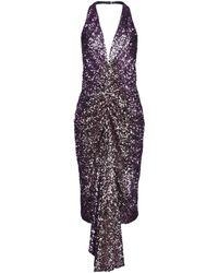 Halpern Midi Dress - Purple
