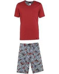 Hanro Pyjama - Rouge
