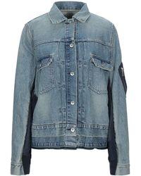 Sacai Capospalla jeans - Blu