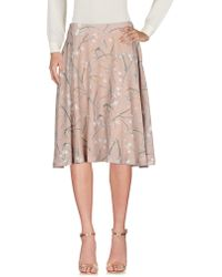 Roberta Scarpa Knee Length Skirt - Natural
