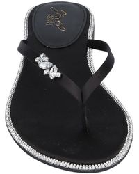Badgley Mischka Toe Strap Sandal - Black