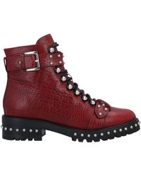 Lola Cruz Ankle Boots - Red