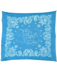 Golden Goose Deluxe Brand Square Scarf - Blue