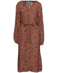 Vero Moda Midi Dress - Brown