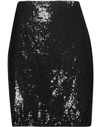 L'Agence Knee Length Skirt - Black