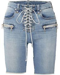 Unravel Project Bermuda jeans - Blu