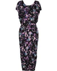 Saloni Apsara Cloudbreak-print Dress - Black