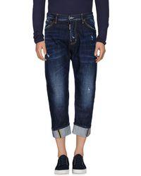 DSquared² Pantalones capri vaqueros - Azul