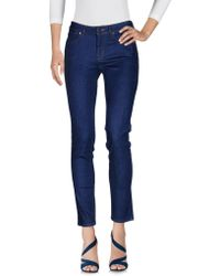 Karen Millen - Denim Trousers - Lyst
