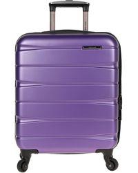 Roberto Cavalli Wheeled Luggage - Purple