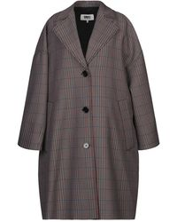 MM6 by Maison Martin Margiela Overcoat - Grey