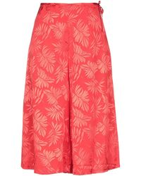 Massimo Rebecchi 3/4-length Trousers - Red