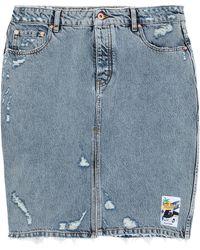 Filles A Papa Denim Skirt - Blue