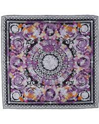 Versace Square Scarf - Purple